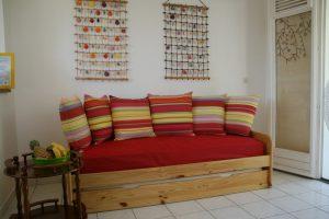 Canapé-lit du salon